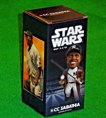 CC Sabathia New York Yankees Star Wars Jedi Bobblehead Ltd. Ed. SGA 5/4/19 NIB