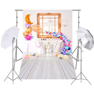 Andoer 1.5 * 2.1m/5 * 7ft Birthday Party Photography Background Balloon M8E0