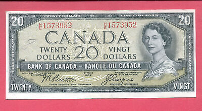 1954 BANK OF CANADA $20 TWENTY DOLLAR - BILL NOTE - Beattie / Coyne H/E 1573952
