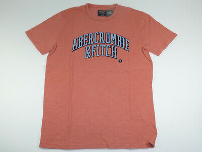 429394fea Abercrombie & Fitch Heavy Weight Applique Logo Coral T-Shirt Men's Size M ~ New