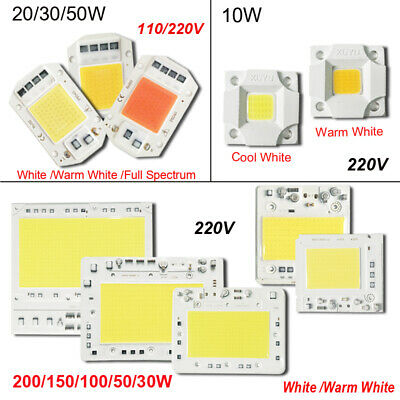 10W/20W/30W/50W/100W/150W/200W LED Lamp  COB Chip AC 110V 220V Smart IC Driver