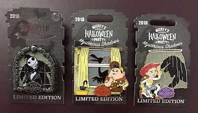 Disney Parks Pixar Halloween Mysterious Shadows Jack Russell Jessie 3-Pin Set LE