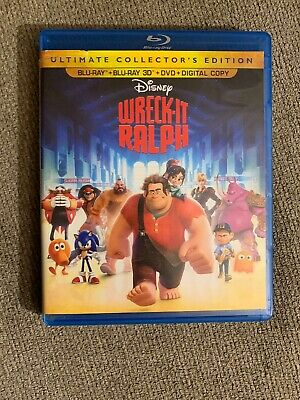 Wreck-It Ralph (3D Blu-Ray / Blu-Ray / Dvd) Ultimate Collector's (Like New)