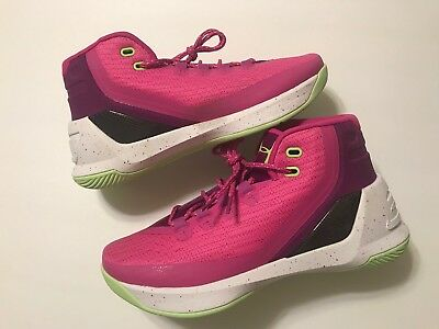 a8a76d92dd5 New Under Armour UA Steph Curry Girls Basketball Shoes Pink Purple Sz 6 1 2Y