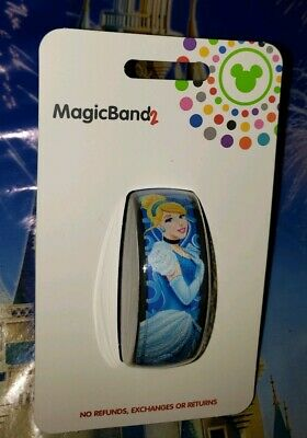 Disney CINDERELLA BLUE Magic Band 2.0 Magicband Link It Later Parks New