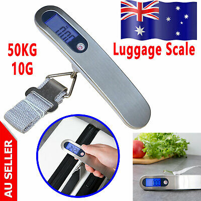 Electronic Portable Digital Luggage Scales Travel 50KG Measures Weighing Weight