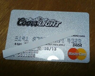 Coors Light  Master Card $10 DEBIT CARD   EXPIRED  NO CASH VALUE CONTEST WIN