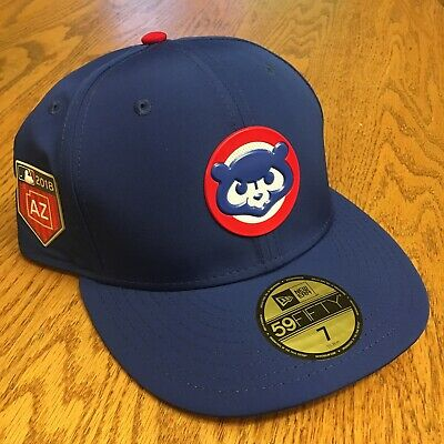 buy popular 0ab52 363a7 Chicago Cubs New Era 59FIFTY Fitted MLB Hat - Royal Blue Spring Training NWT