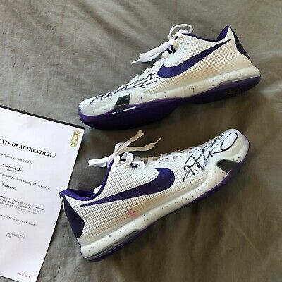 6ca8144d51e9 Nike Air Zoom Kobe X Size 14 TB Purple White 813030 150 Suns PJ Tucker  Signed