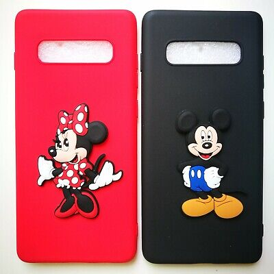 3D Mickey Minnie Case For Samsung Galaxy S10 S9+ S8 Matte Disney Soft TPU Cover