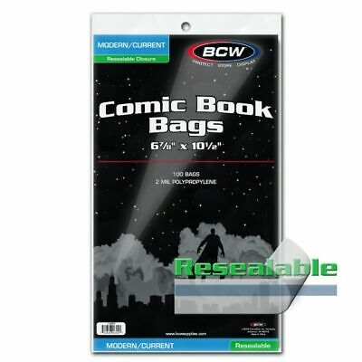 BCW Modern/Current Comic Resealable Book Bags - Pack of 100