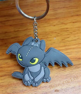 Dreamworks How to Train Your Dragon Night Fury Toothless Figure Keyring