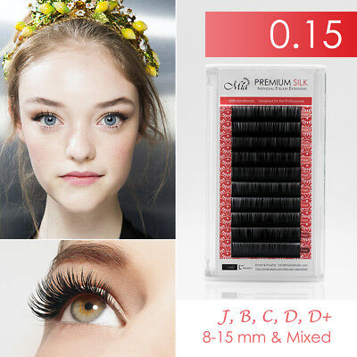 0.15 Silk Eyelash Extension Semi Permanent Individual Mia Lash Lab