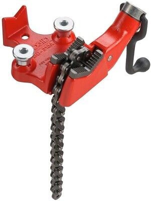 RIDGID 1/8 in. to 2-1/2 in. BC210A Top-Screw Bench Chain Vise