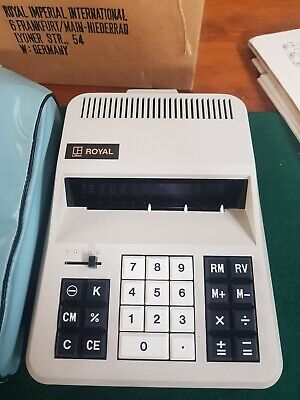 Vintage ROYAL LITTON electric calculator- as new in box