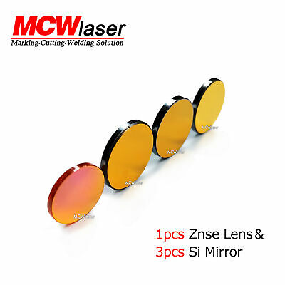 CO2 Laser  Si Mirror Φ 25mm 20mm*3PCS+ Znse Focus Lens * 1PCS Φ 18mm 19mm 20mm