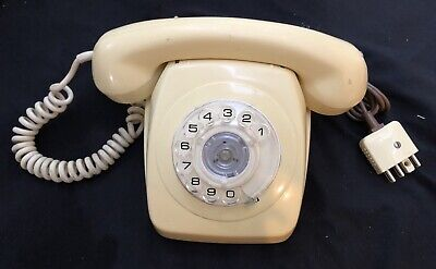 Retro Telephone - Pmg - Cream In Working Order With Dial And Ring Tone No Cracks