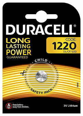 Piles CR 1220 2016 2025 Duracell Bouton Lithium 3V