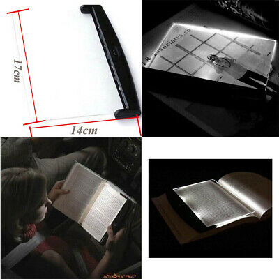 Unique LED Read Panel Light Book Reading Lamp Night Vision for Travel Portable