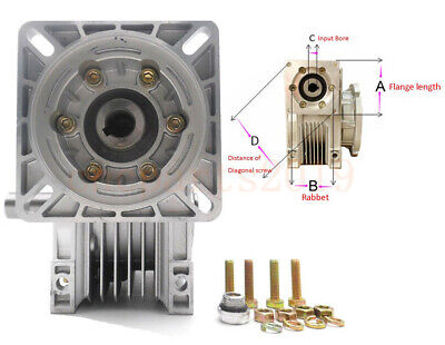 NMRV040 Worm Gear Reducer Gearbox 14mm Input Ratio 25:1 for NEMA34 Stepper Motor