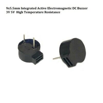 3V 5V 9x5.5mm Integrated Active Electromagnetic Buzzer DC High Temperature