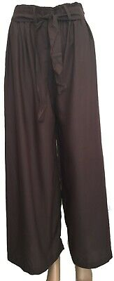 Ex- Zara Brand Cropped Wide Leg Trouser for Girls | Ladies | Womens - Size XL.