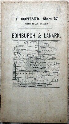 O/S of SCOTLAND Half inch (hill-shaded) EDINBURGH & LANARK Sheet 27 1913