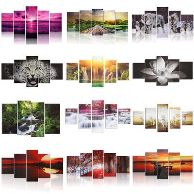 UK Unframed Modern Canvas Art Oil Painting Picture Print Room Wall Hanging Decor