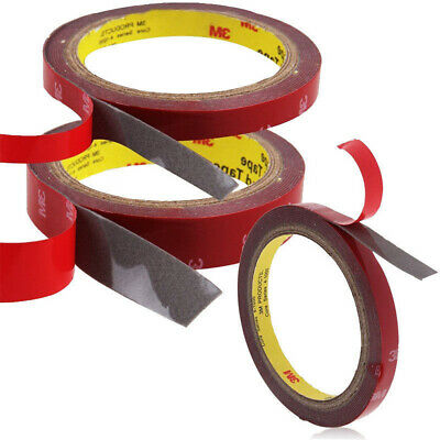 3m x 6,8,10,12,15, 20MM Vehicle Double Sided Car Adhesive Acrylic Foam Tape DIY