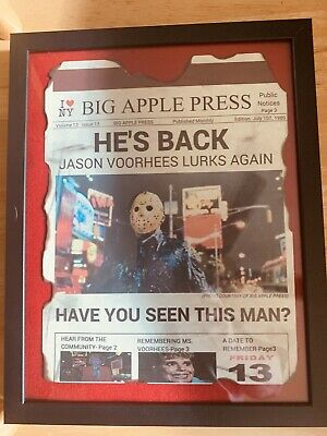 Friday The 13Th Jason Voorhees Art Poster Print