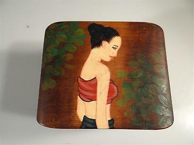 Balinese Trinket Box Charming Hand Painted Image