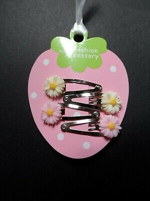baby/girls mini/small hair clips  hair slides snap clips flower,daisy summer no3