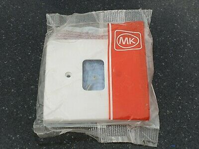 MK K3631 WHI 1G Moulded Frontplate New & Sealed Shd