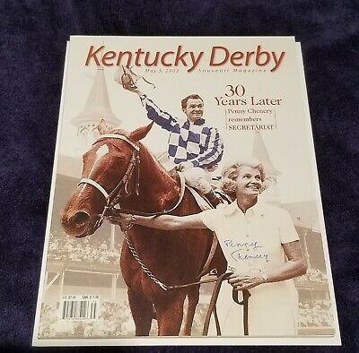 SECRETARIAT - Kentucky Derby SIGNED Special Edition Magazine by Penny Chenery