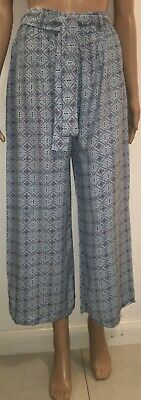 Ex- Zara Brand Cropped Wide Leg Trouser for Girls | Ladies | Womens   - Size M.