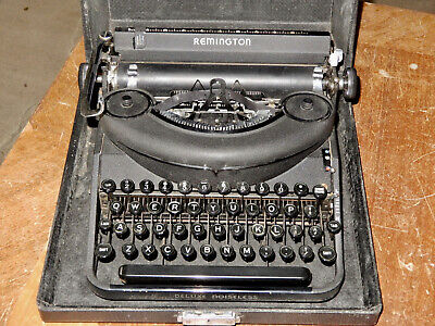 Antique Portable Typewriter Remington  Clean Condition