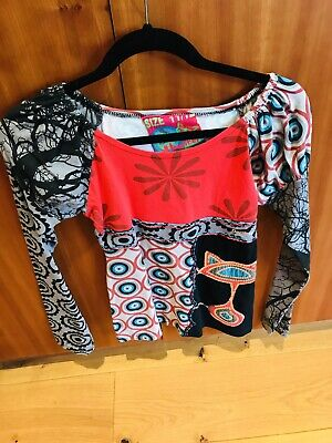 desigual pink sequinned girls top age 11 to 12 in excellent condition