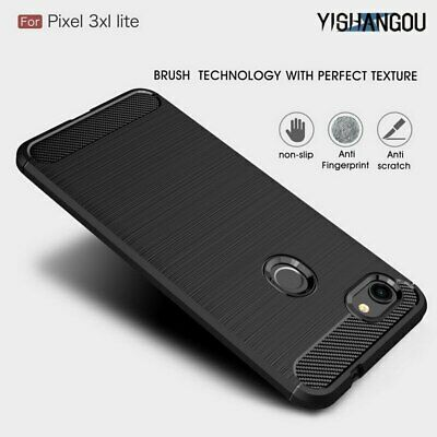 Luxury Carbon Fiber Matte Anti-Skid Shockproof Soft Phone Case Cover For Google