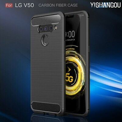 Luxury Ultra Thin Carbon Fiber Soft Silicone Shockproof Phone Case Cover For LG