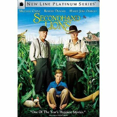 NEW Secondhand Lions DVD MOVIE SECOND HAND 2ND Michael Caine, Robert Duvall