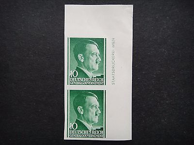 Germany Nazi 1941 1942 1943 Imperf Stamps MNH Adolf Hitler Poland under German O