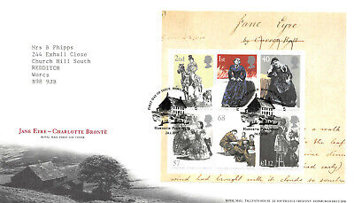 Jane Ayre Charlotte Bronte First Day Cover - Mini Sheet Stamps GB 2005 FDC