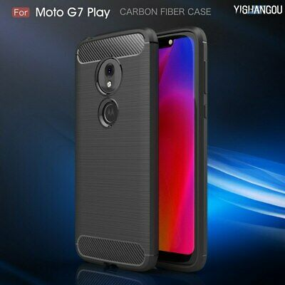 Luxury Carbon Fiber Soft Silicon Shockproof Phone Case Cover For Motorola Moto