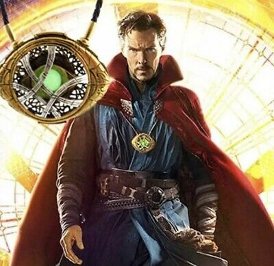 Cosplay Doctor Strange Time Stone Necklace