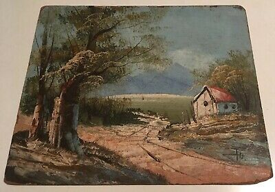 Vintage Small Oil Painting Landscape Lovely Colour Bloomsbury Style