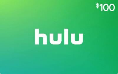 Hulu $100 Value Gift Card USA Nationwide - Same Day Ultrafast Delivery SALE