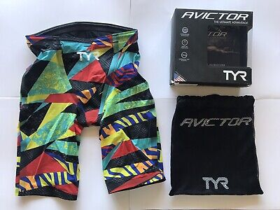121227a3806 TYR AVICTOR PRELUDE Male Short Jammer Tech Suit Swimsuit Bright ...