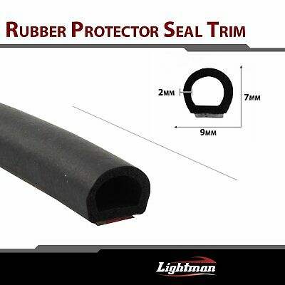 "240"" Rubber Seal Trim Weather Strip Car Door Protector Hollow D-shape Decorate"