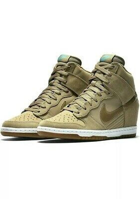 premium selection e3af4 20bed Nike Dunk Sky Hi Essential Wedge Shoes Dessert Camo Size 7.5 New (644877-200