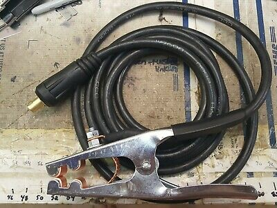 """12 Foot 300A MIG TIG  Ground Clamp 1/2"""" 35-50 Dinse Miller Lincoln Twist Mates"""
